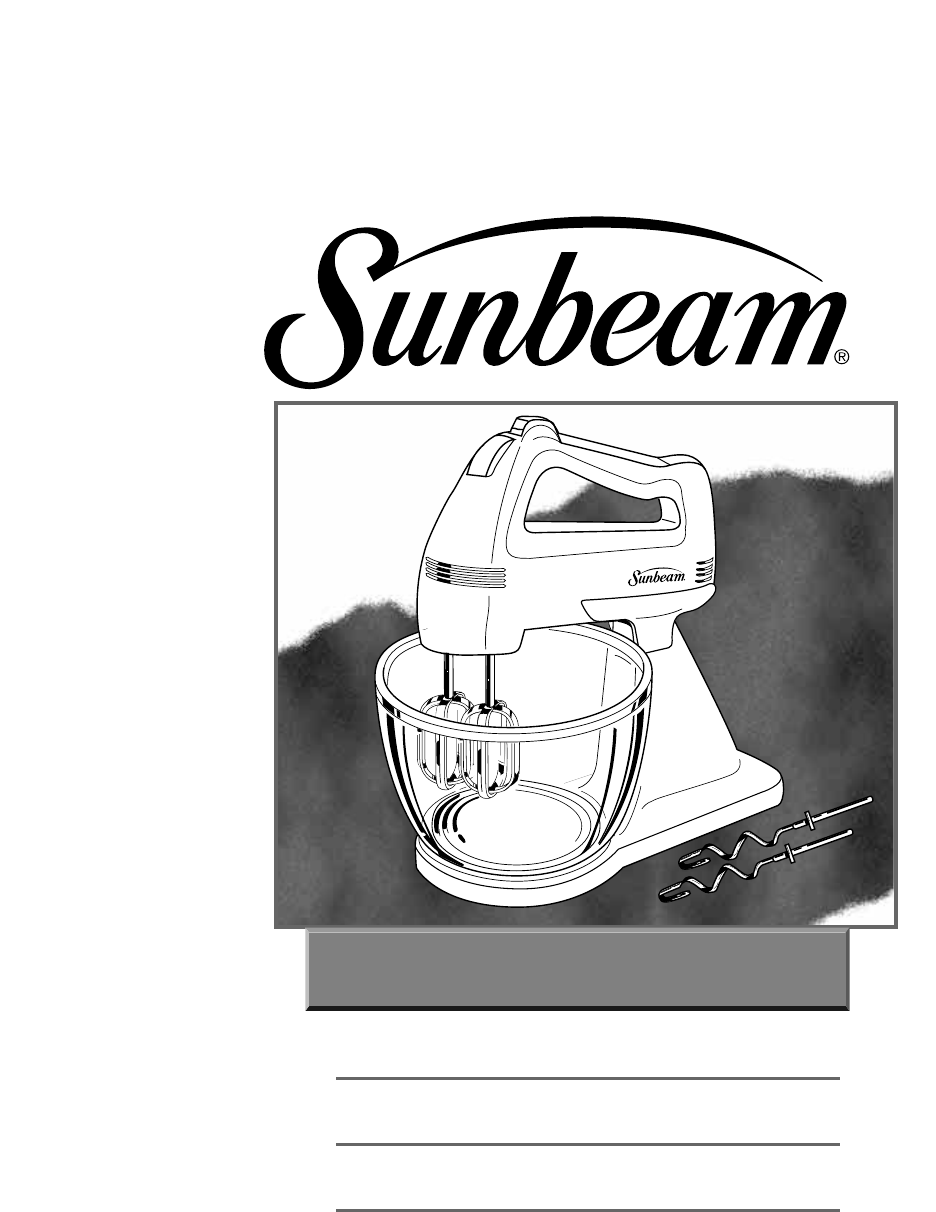 sunbeam cool touch bakehouse instructions