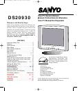 sanyo crt television ds20930 user guide manualsonline com rh tv manualsonline com
