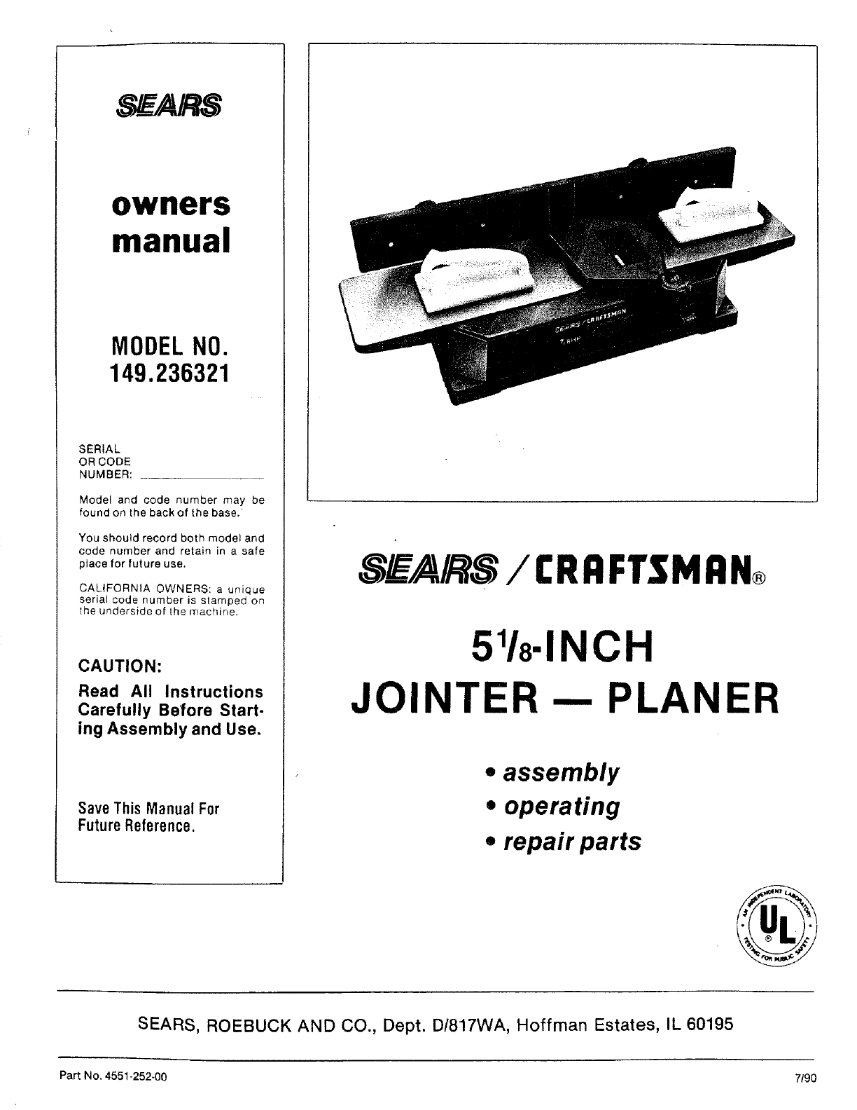 sears user manual various owner manual guide u2022 rh justk co Sears Craftsman ManualsOnline Craftsman Instruction Manual