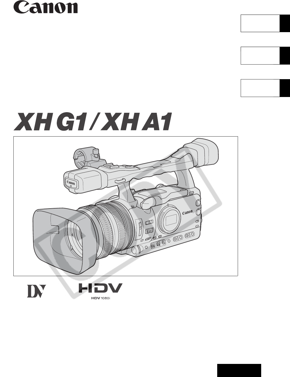 Download Canon XH A1 Instruction Manual