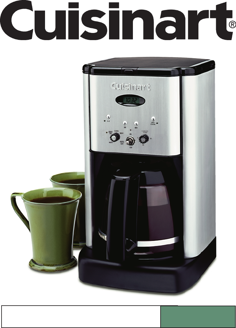Cuisinart coffeemaker dcc 1200bw user guide for Cuisinart dcc 1200