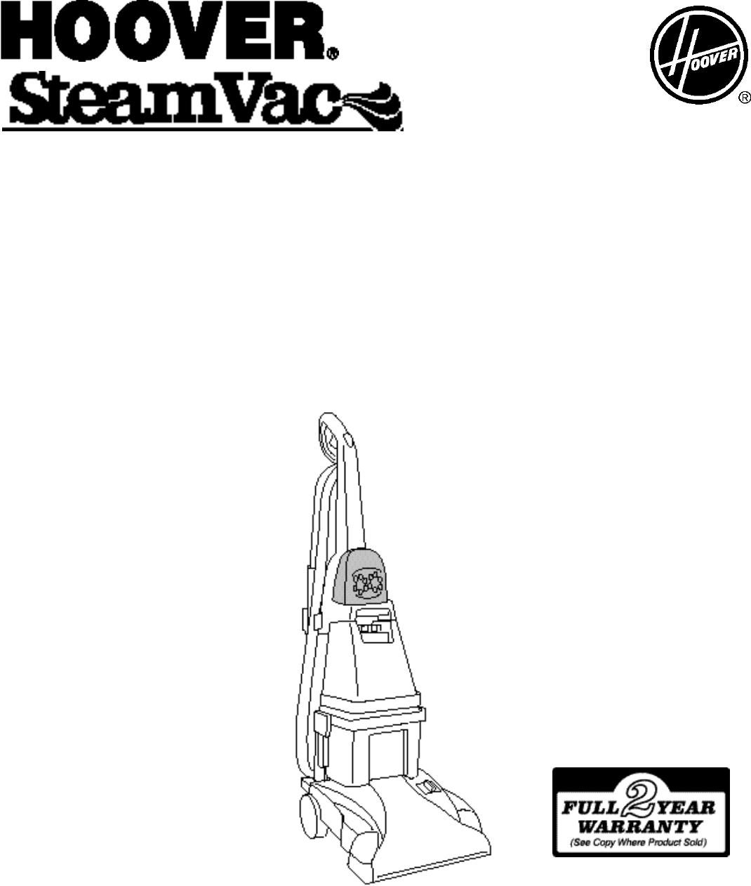 hoover steamvac supreme instructions