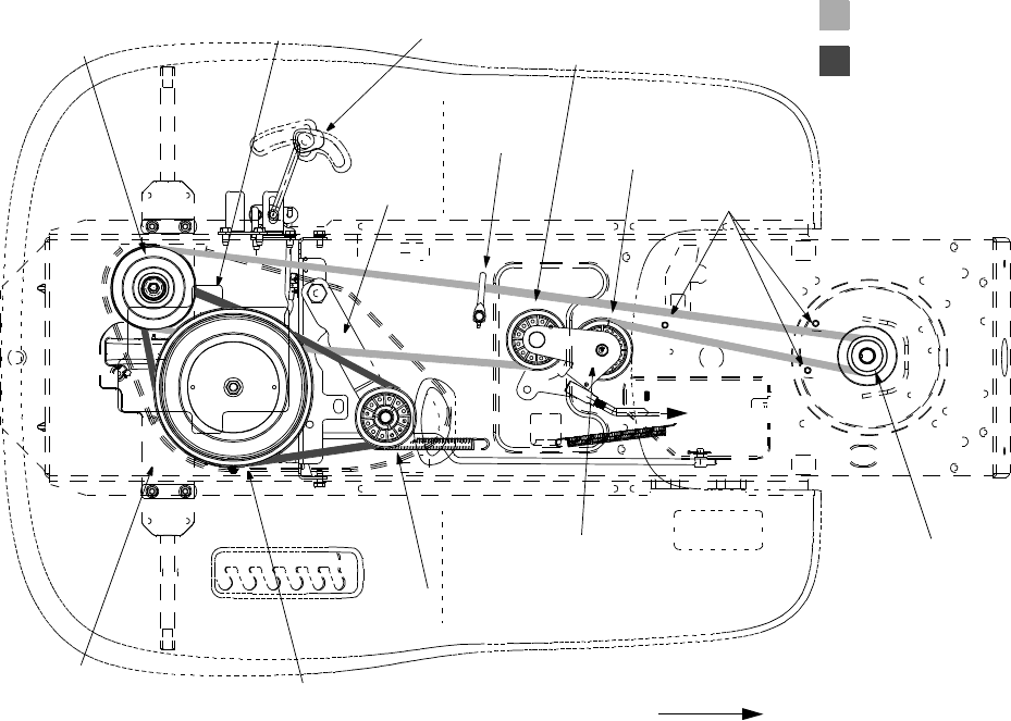 The Belt Diagram On The Deck Of A 46 Inch Cut Zero Turn Dixon in addition John Deere Zero Turn Bagger Parts likewise John Deere Lx 188 Help also 199669 John Deere 175 W 5C38 Mower Deck in addition Troy Bilt Belt. on toro lx426 mower deck belt diagram
