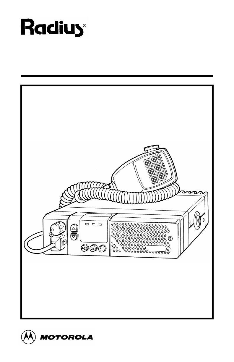 motorola 2 way radio manual