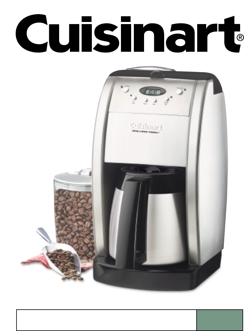 Cuisinart Coffeemaker DGB600 User Guide ManualsOnlinecom
