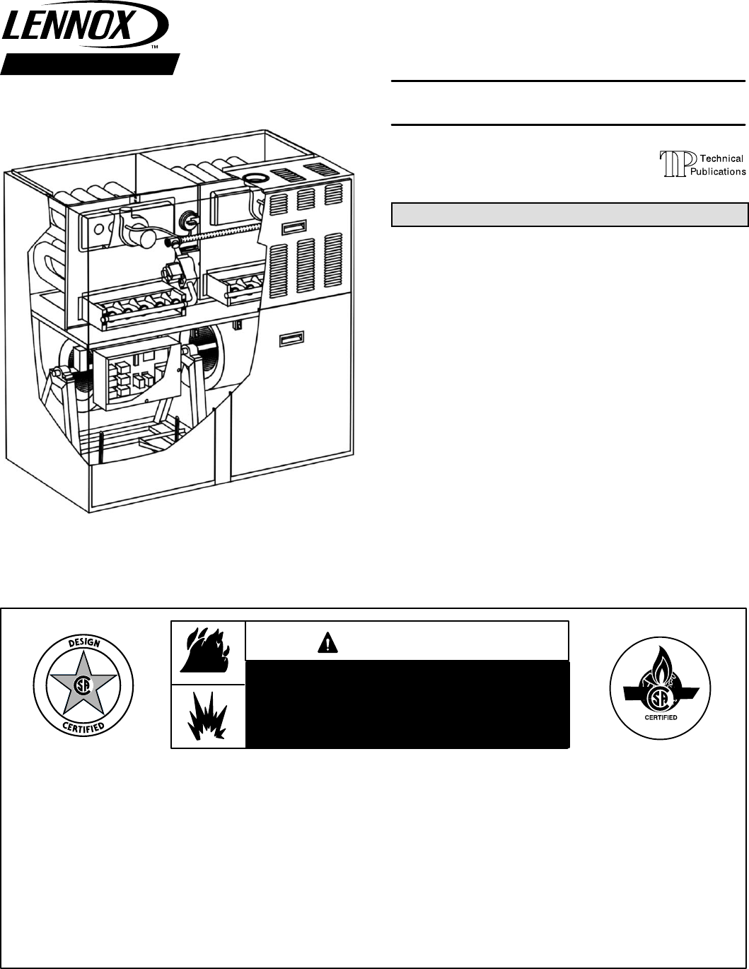 lennox gas furnace installation manual