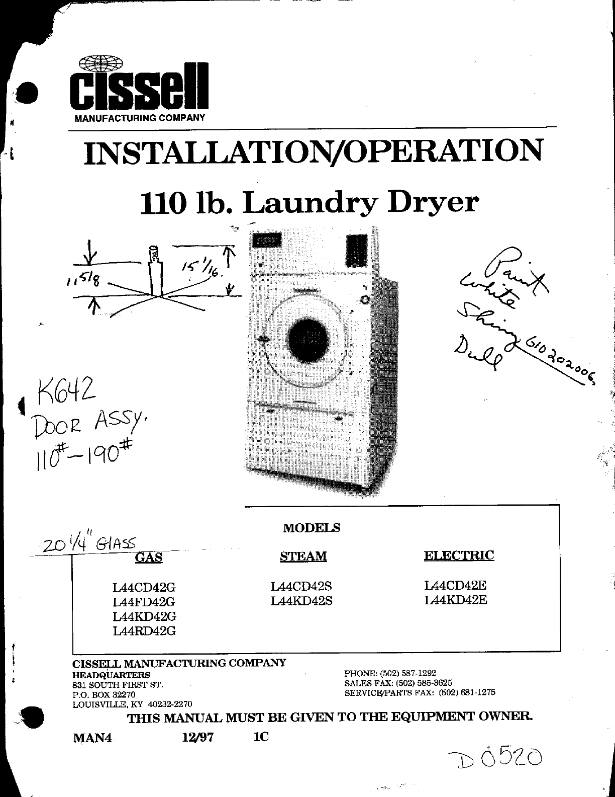 Cissell Dryer Wiring Diagram Starting Know About Ge Electric Clothes L44fd42 L44cd42 User Guide Manualsonline Com Rh Laundry