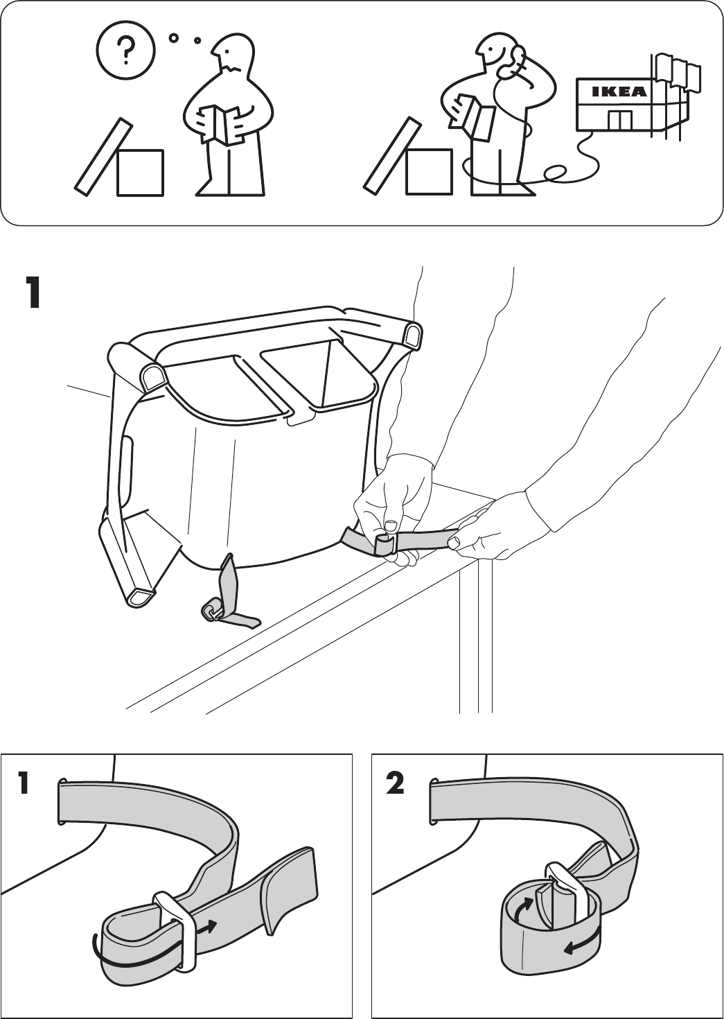 Ikea Instruction Manuals Page 2 Of Ikea High Chair Aa 269276 1 User Guide Manualsonlinecom