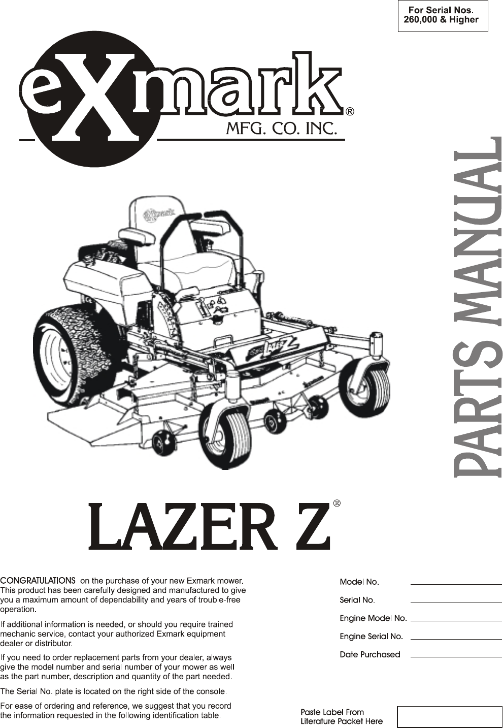 exmark engines owners manual free owners manual u2022 rh wordworksbysea com Exmark Lazer Z Exmark Lazer Z Mower Parts