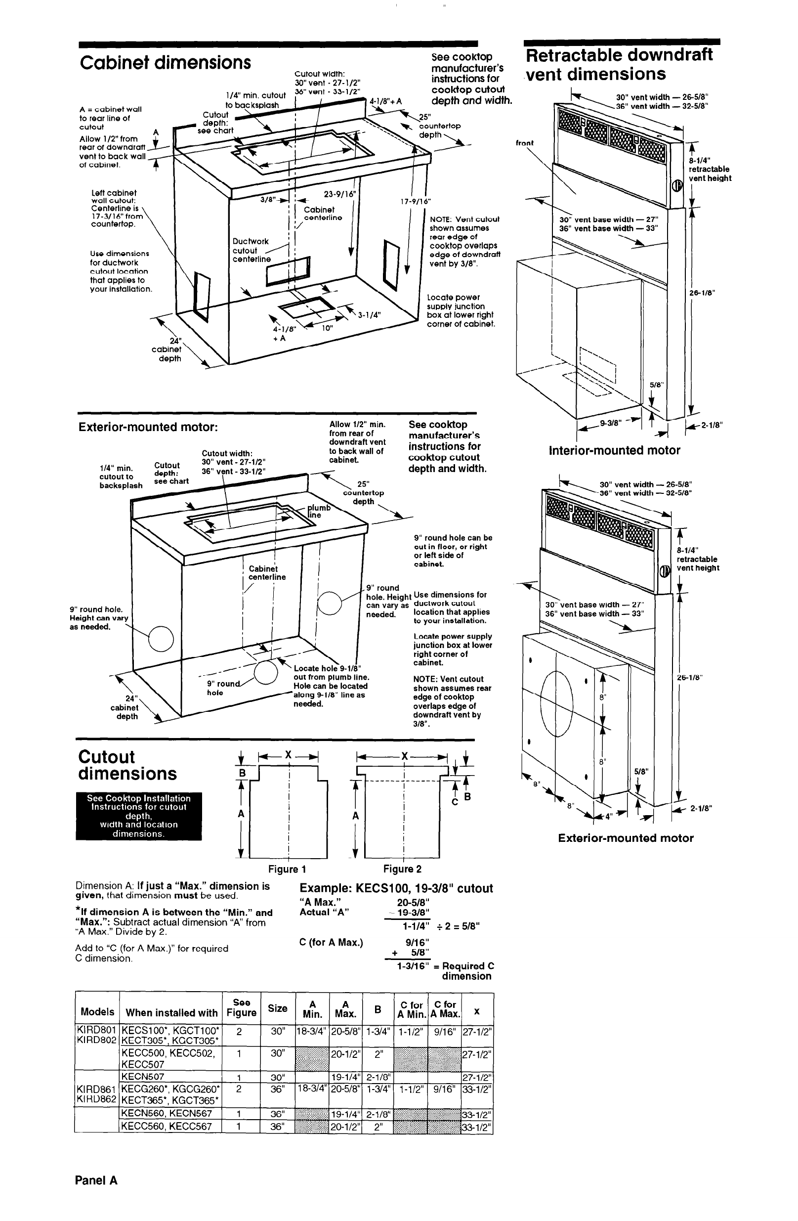 page 2 of kitchenaid ventilation hood 30 and 36 retractable downdraft vent systems user guide. Black Bedroom Furniture Sets. Home Design Ideas
