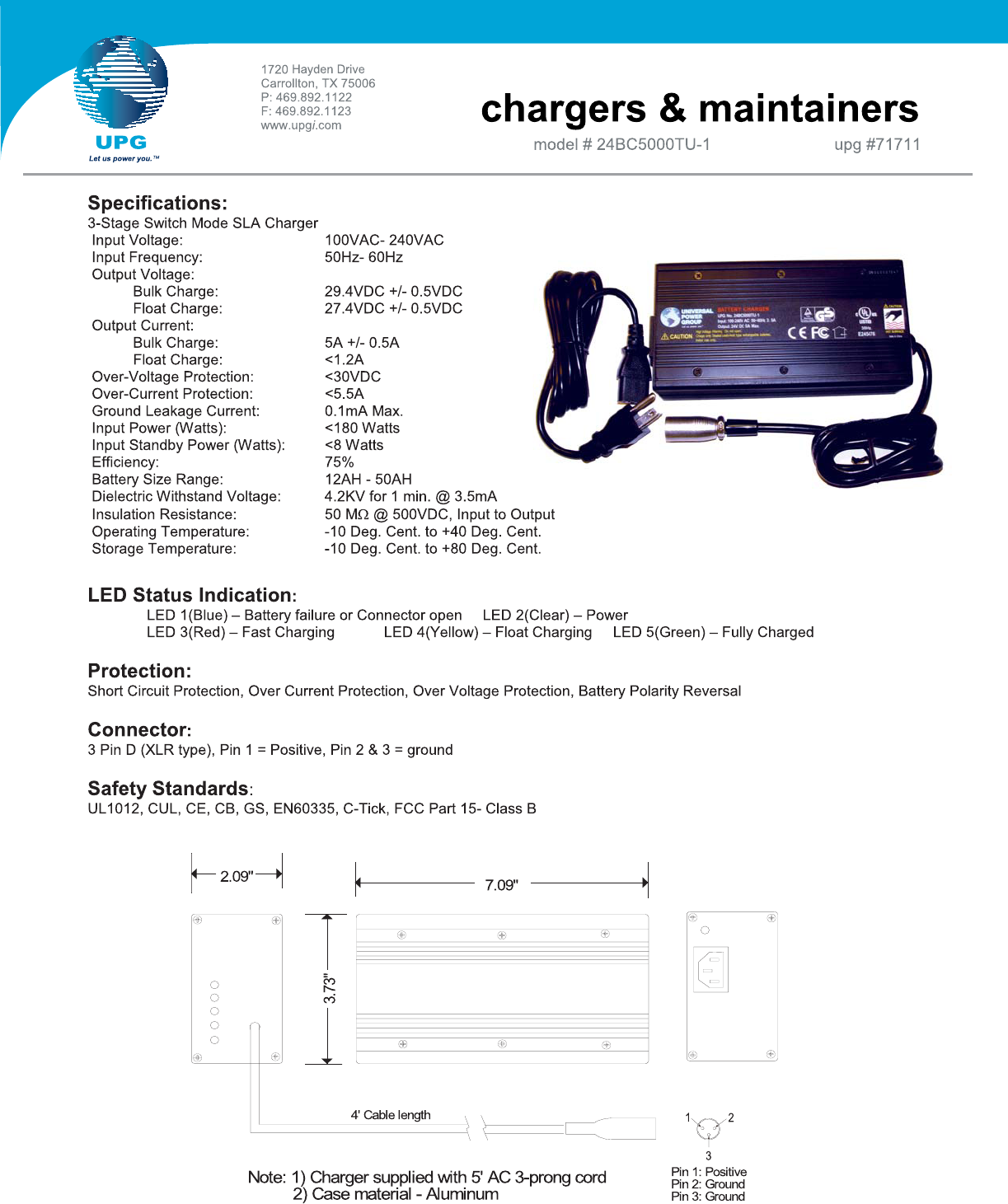 universal electronics battery charger 24bc5000tu user guide rh powertool manualsonline com Universal Electronics Logo Decibel Electronics Universal Remote