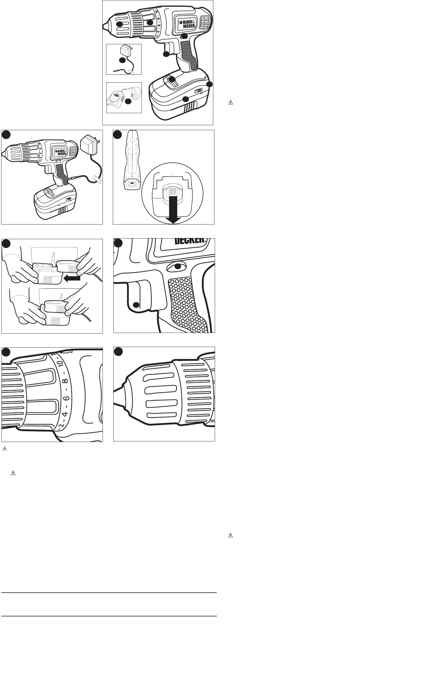 page 2 of black & decker cordless drill gc1800 user guide
