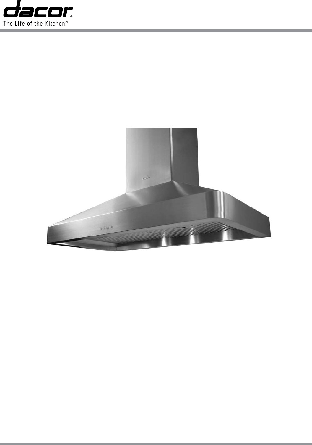dacor ventilation hood dhw482 user guide manualsonline com rh kitchen manualsonline com dacor range hood troubleshooting Dacor Ventilation Hoods