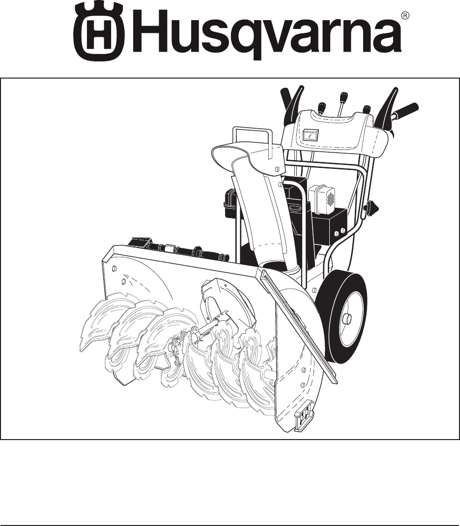 Husqvarna Snow Blower 10527SB-LS User Guide | ManualsOnline com