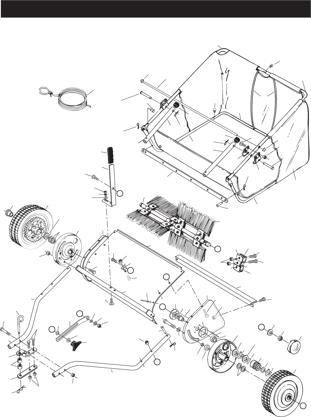 Craftsman Lawn Vacuum Parts : Page of craftsman lawn sweeper  user guide