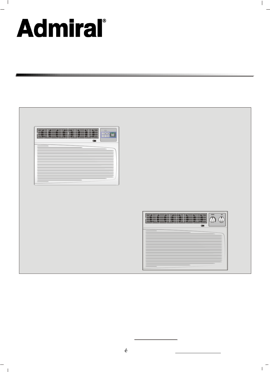 admiral air conditioner aaw 18cr3fhu user guide manualsonline com rh homeappliance manualsonline com Admiral Heating and Air Conditioning Admiral Window Air Conditioning Unit