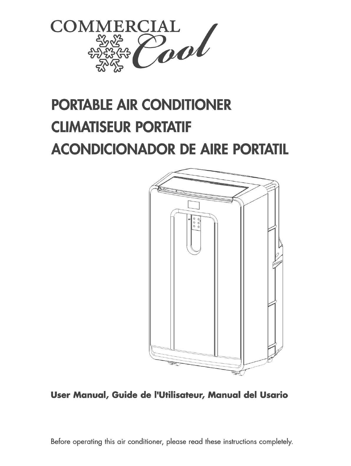 Koolking Portable Air Conditioner Instruction Manual Manual Guide