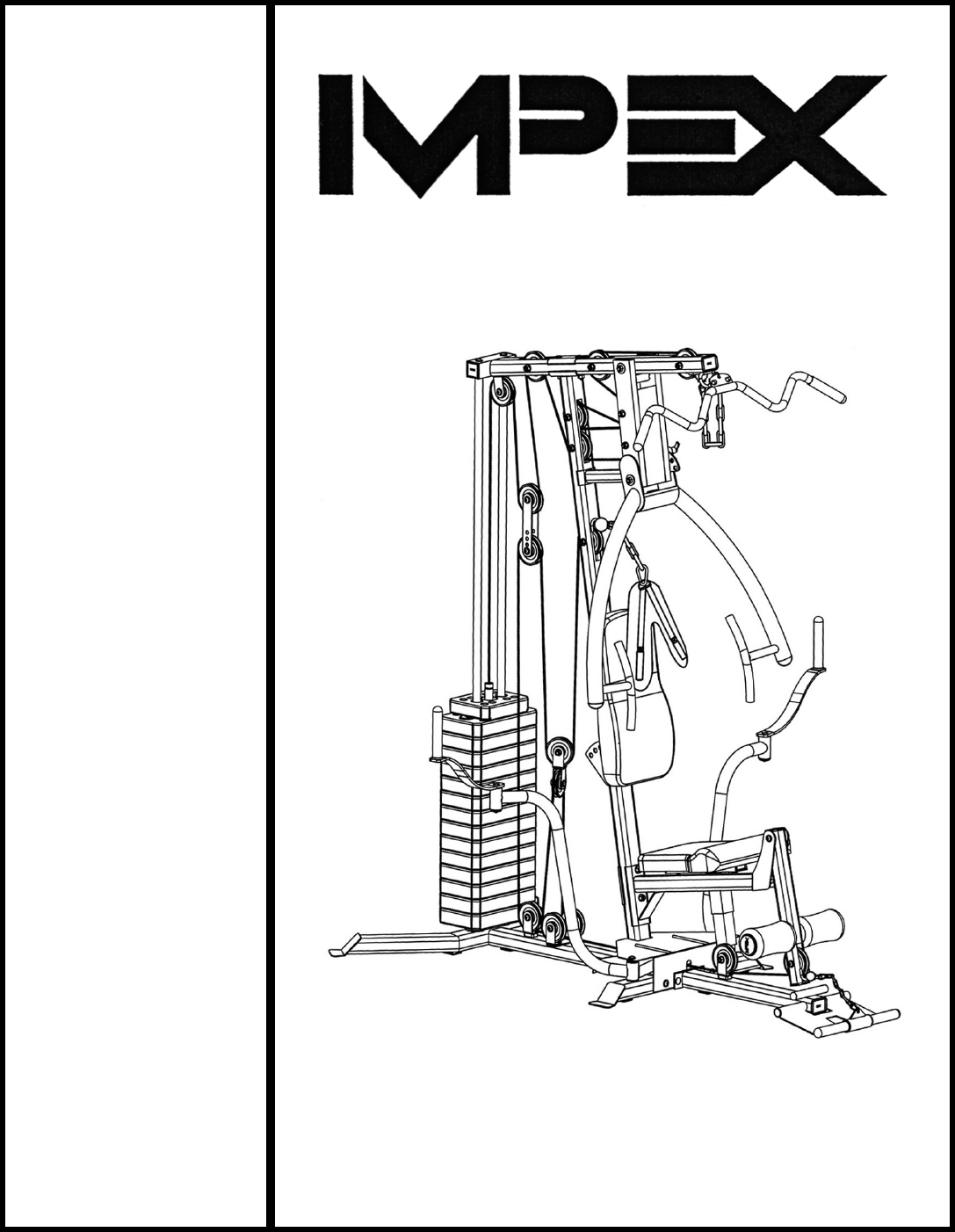 Impex home gym mp user guide manualsonline