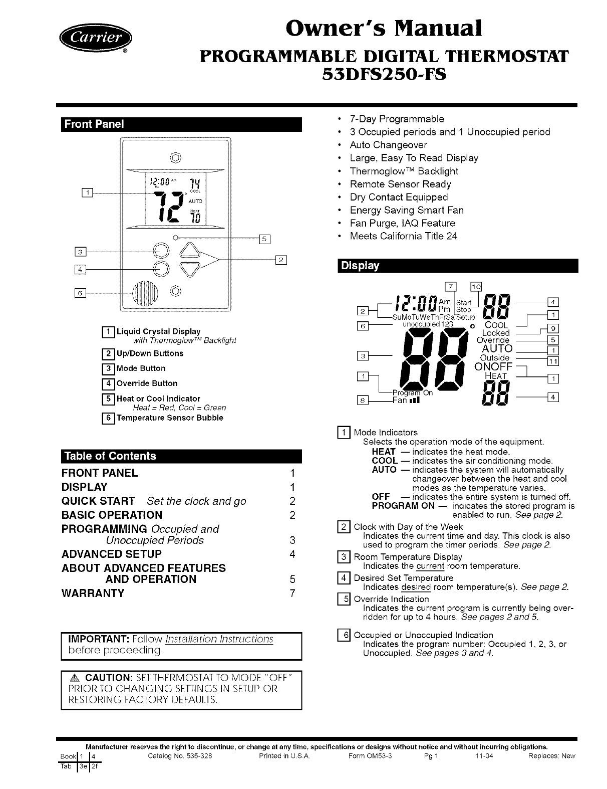 Proselect Thermostat Manual Manual Guide