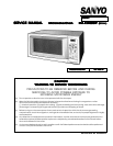 free sanyo microwave oven user manuals manualsonline com rh kitchen manualsonline com Sanyo Microwave Oven Transformer Sanyo Microwave Oven Transformer