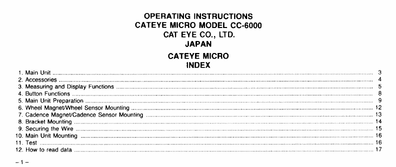 page 2 of cateye bicycle accessories cc 6000 user guide rh fitness manualsonline com Cat Eye Com Cat Eye Cadence Computer Install