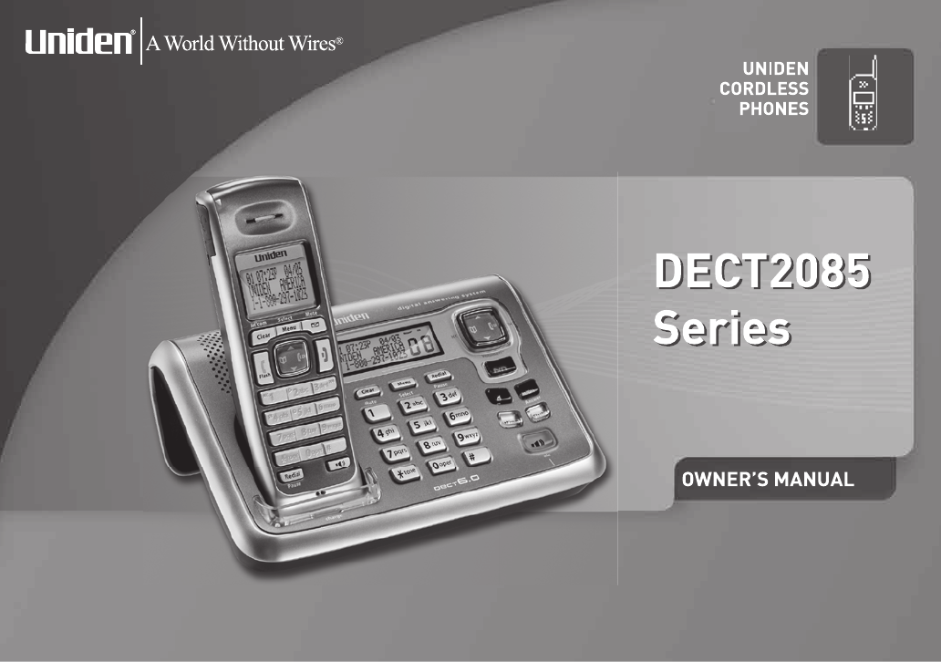 uniden cordless telephone dect2085 user guide manualsonline com rh phone manualsonline com Chilton Auto Mobile Manuals Auto Mobile Owner Manuals