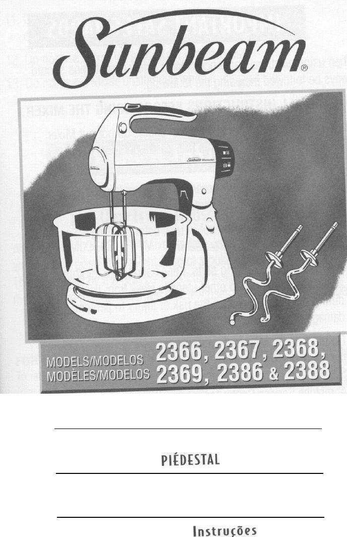 sunbeam mixer 2388 user guide manualsonline com rh kitchen manualsonline com sunbeam mixer repair manual sunbeam electric mixer manual
