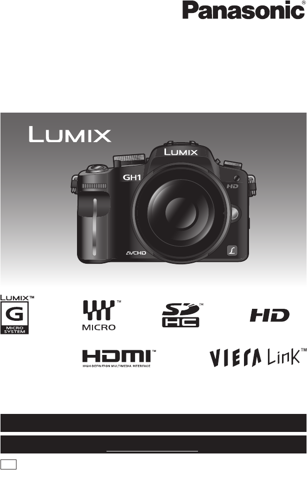 panasonic digital camera dmc gh1 user guide. Black Bedroom Furniture Sets. Home Design Ideas