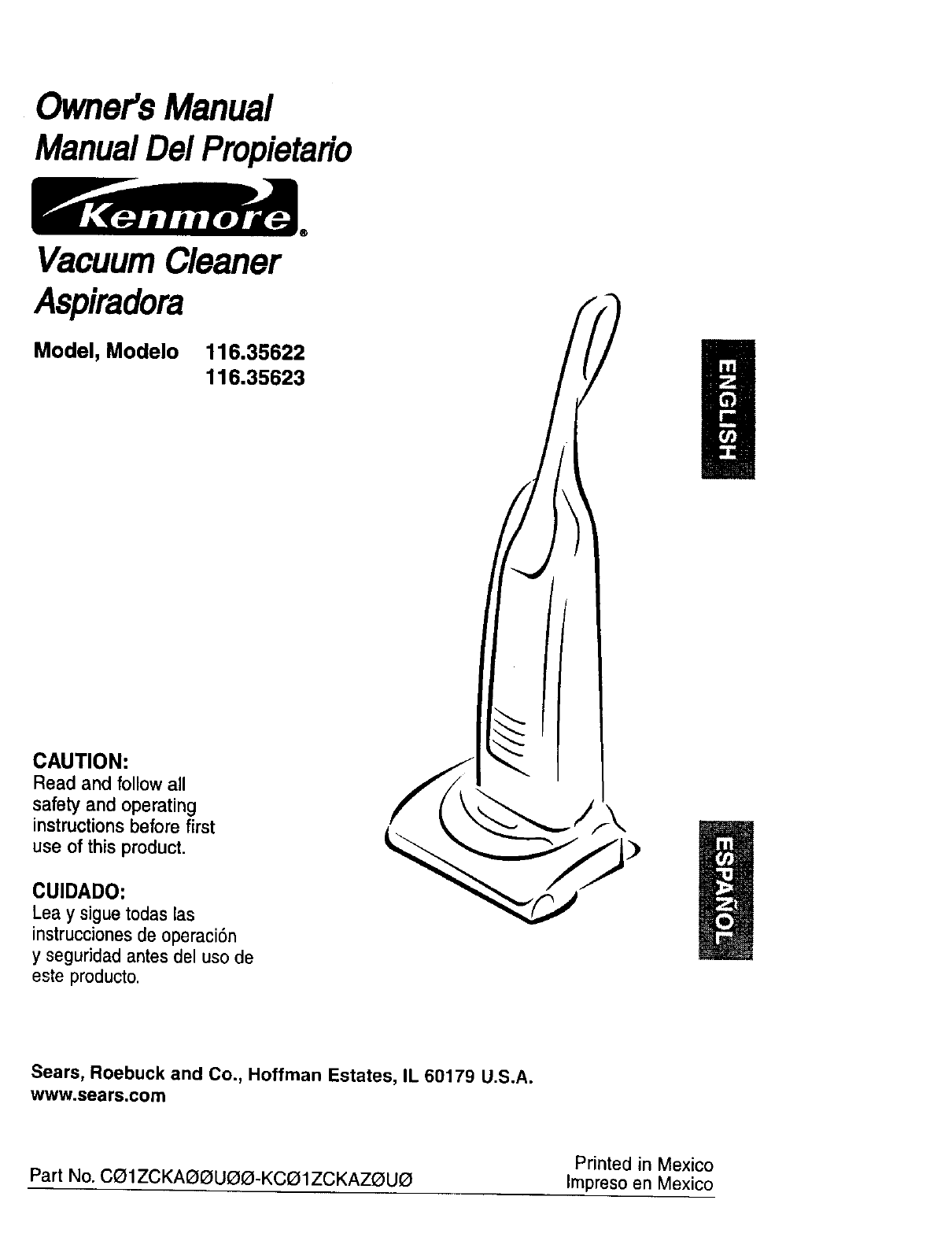Kenmore Vacuum Cleaner 116 35622 User Guide border=