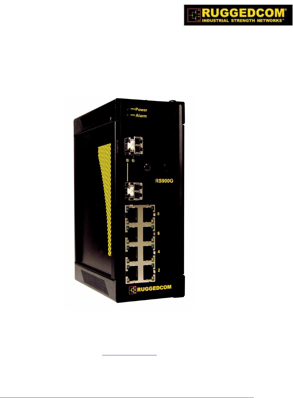 Ruggedcom Switch Rs900g User Guide Manualsonline Com