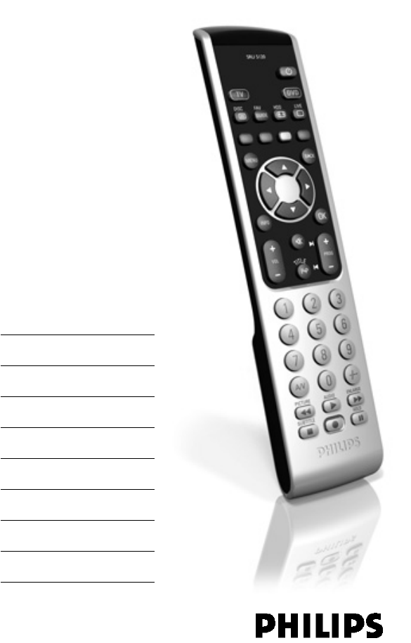 Instruction for philips universal remote