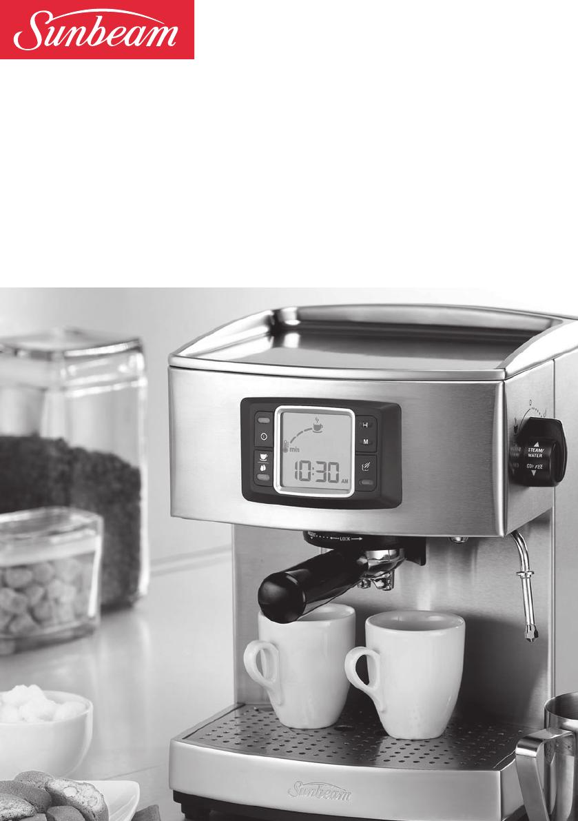 Sunbeam Coffee Maker Instructions : Sunbeam Espresso Maker EM5600 User Guide ManualsOnline.com
