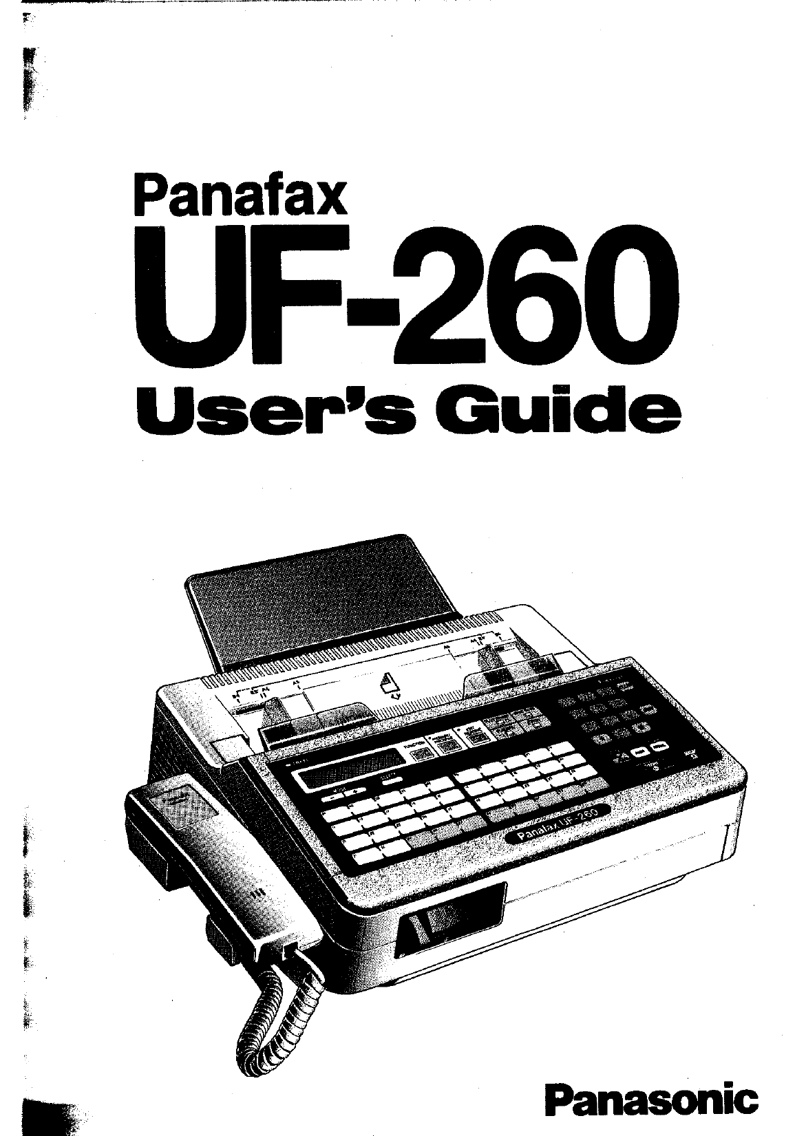 panasonic fax machine manual