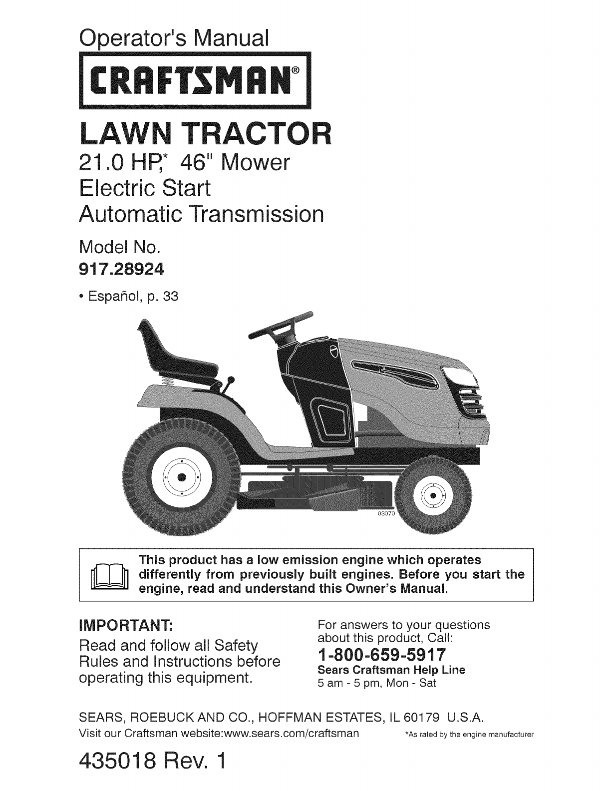 Craftsman Mower 917288515 Wiring Diagram Tractor Page 65 Of Lawn 917 289244 User Guide Toro