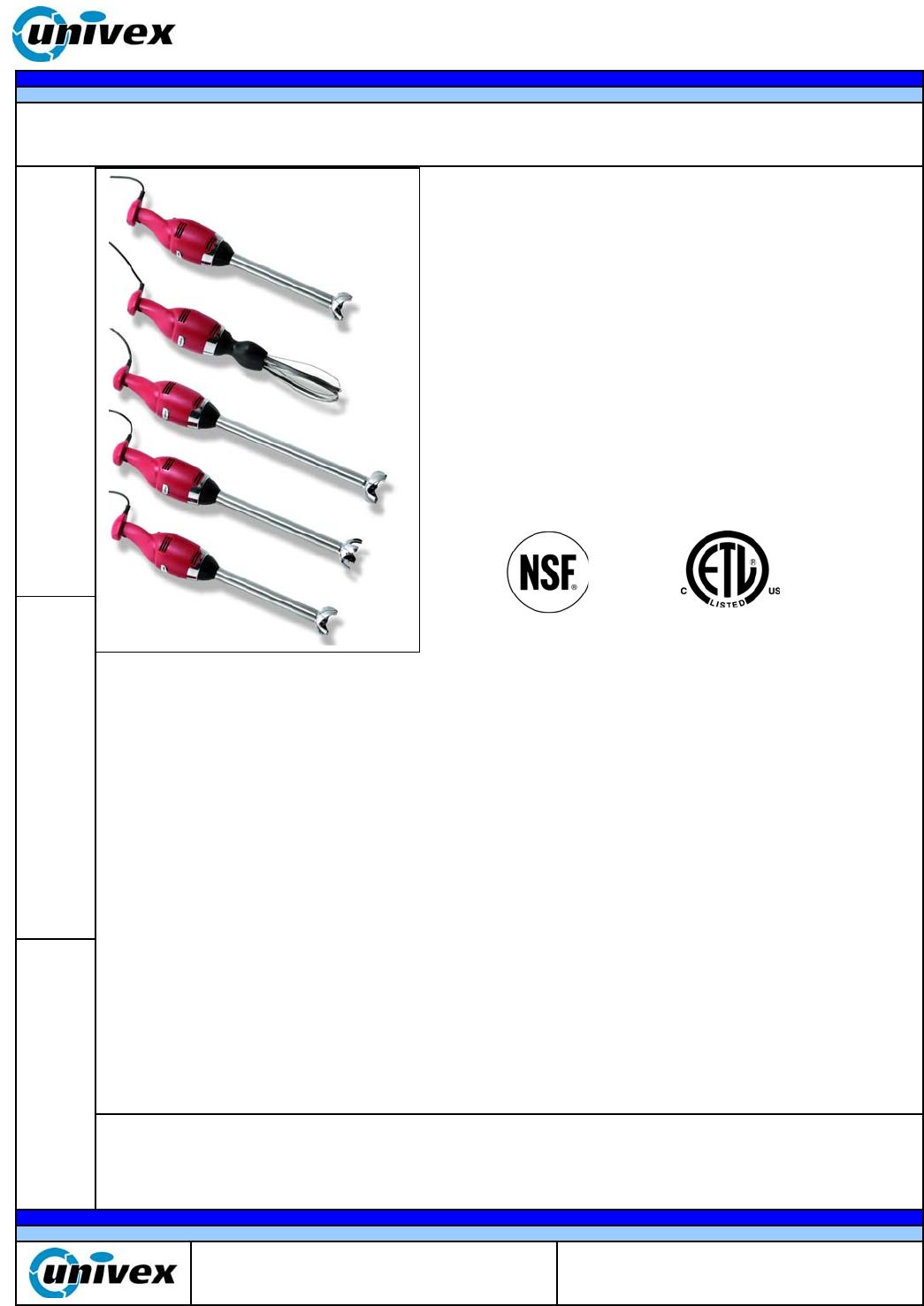 univex mixer tr550 user guide manualsonline com rh kitchen manualsonline com Univex Patty Press Univex 7512 Slicer