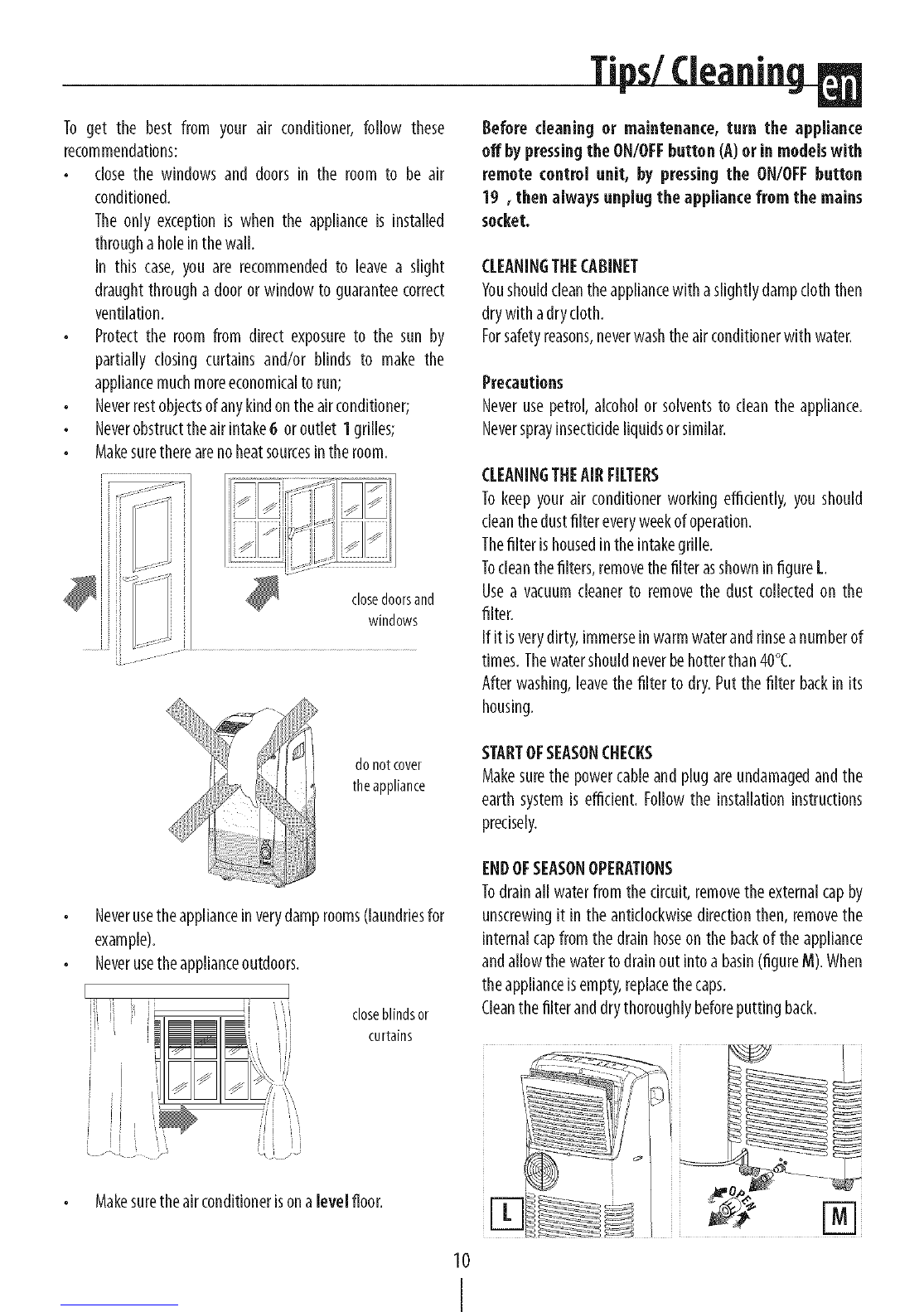 page 10 of delonghi air conditioner pac n130hpe user guide rh homeappliance manualsonline com pac user guide delonghi pac an97 user manual