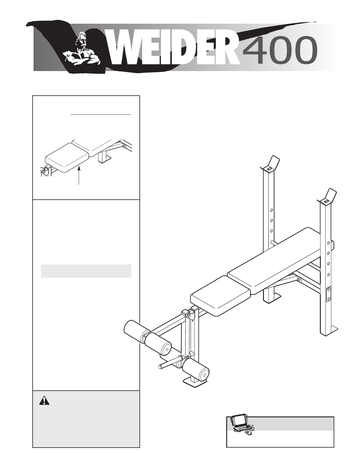 Weider home gym weccbe user guide manualsonline