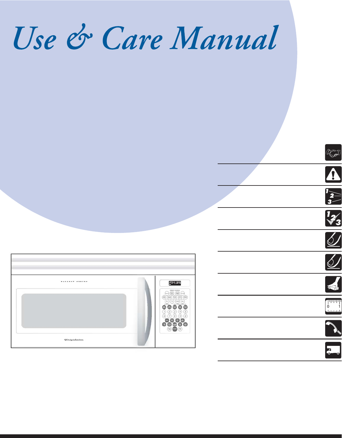 frigidaire over the range microwave manual