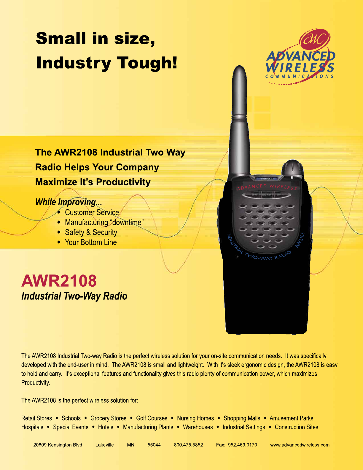 Advanced Wireless Solutions awr2108 Two-Way Radio User Manual