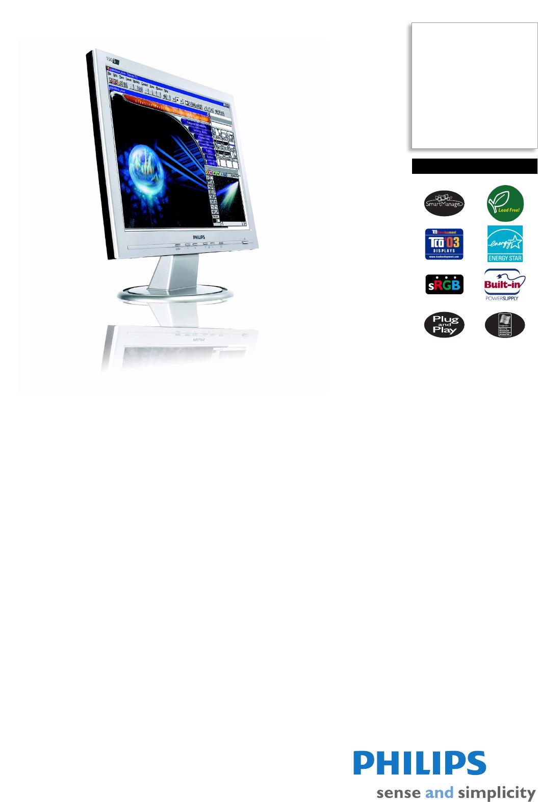 Монитор philips 150s6fs схема