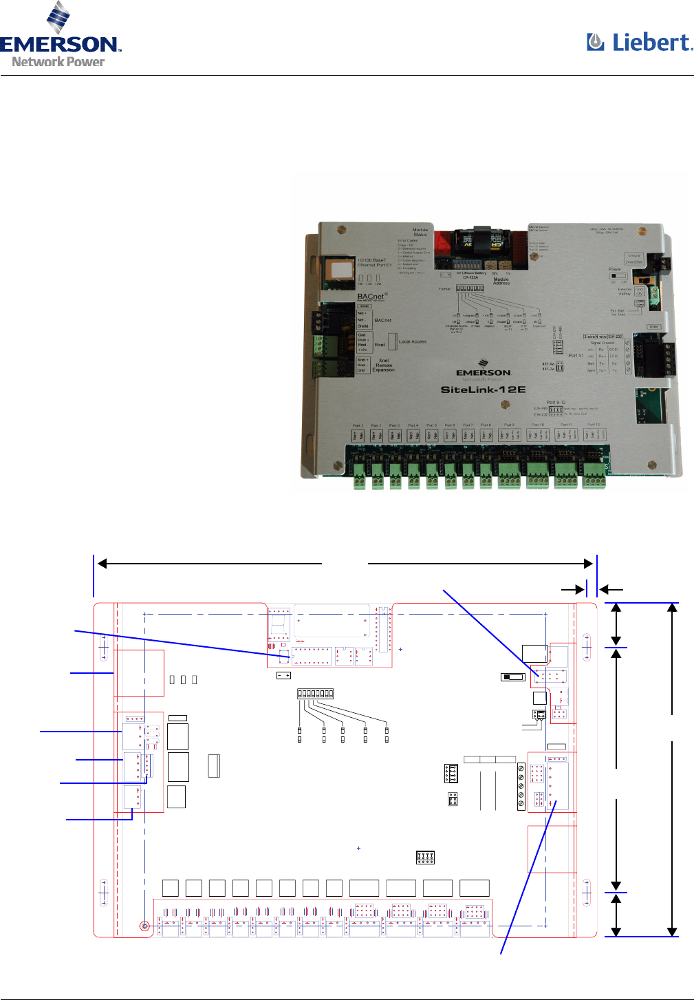 emerson network card sitelink 12e user guide manualsonline com rh office manualsonline com FC to BACnet Wiring-Diagram RS 485 Wiring-Diagram