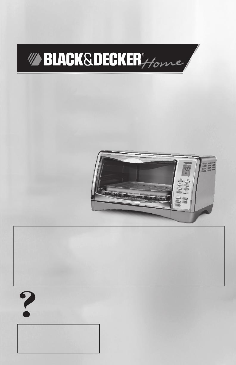 Black & Decker Convection Oven CTO4550SD User Guide ManualsOnline ...