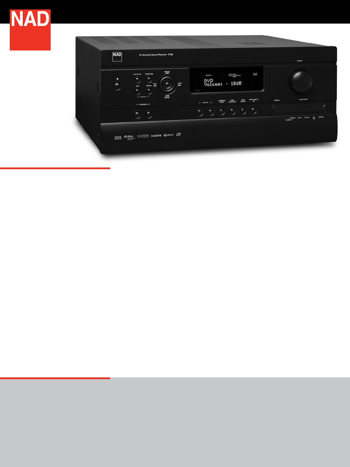 Nad Stereo System T785 User Guide Manualsonlinecom Sound The Is Heir To Many Generations Of Award Winning Designs This Exceptional Pedigree