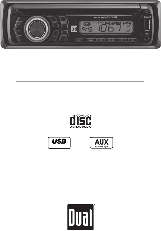 dual car stereo system xd5250 user guide manualsonline com rh caraudio manualsonline com Dual Cp1222 Dual Stereo