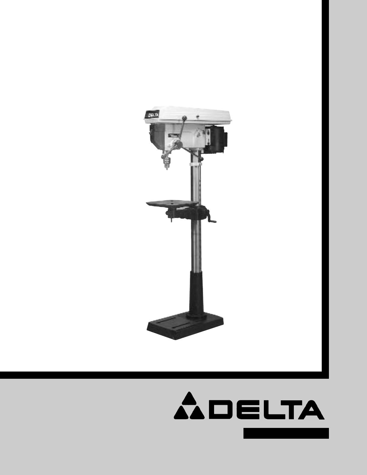 delta drill 17 900 user guide manualsonline com rh powertool manualsonline com delta 16.5 drill press manual delta drill press 14-070 manual