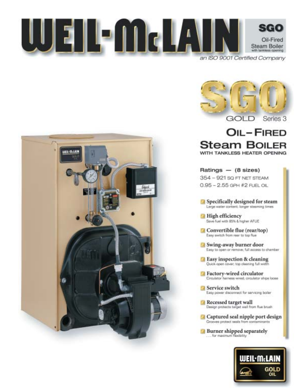 Weil-McLain Boiler SGO Series 3 User Guide | ManualsOnline.com