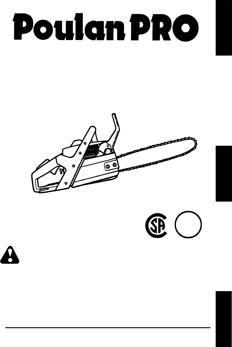 poulan chainsaw 260 user guide
