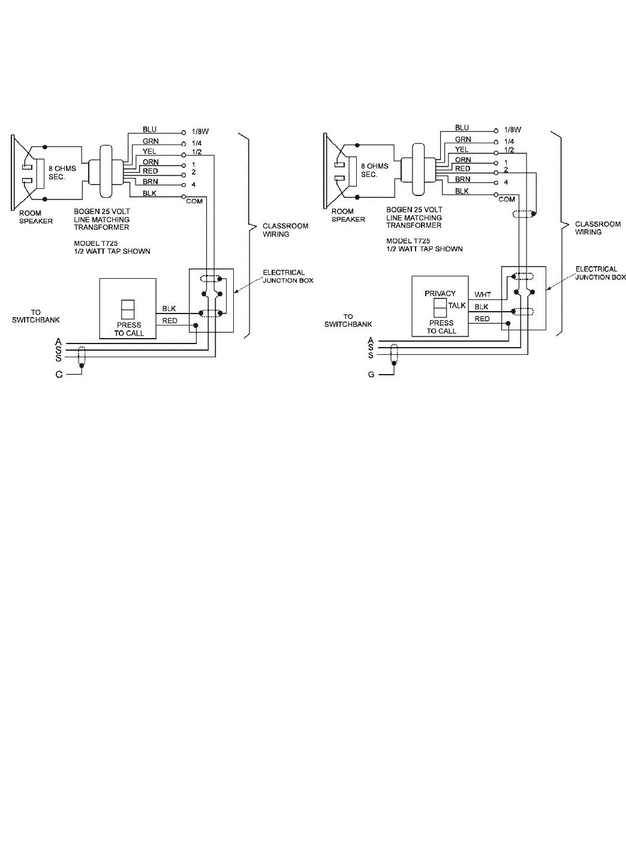 page 11 of bogen intercom system pi35a user guide manualsonline com rh phone manualsonline com FLIR Intercom Wiring-Diagram Audio Tech Intercom System