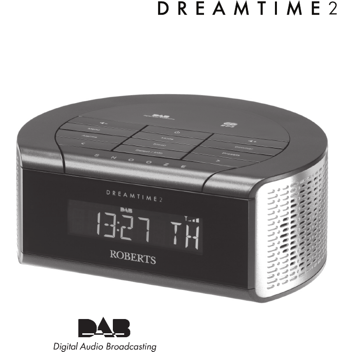 roberts radio clock radio dreamtime2 user guide. Black Bedroom Furniture Sets. Home Design Ideas