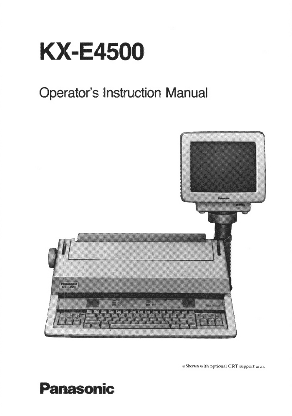 panasonic typewriter kx e4500 user guide manualsonline com rh office manualsonline com Panasonic Typewriter KX E-4020 Panasonic Typewriter Repair